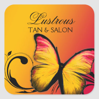 311 Lustrous Butterfly Sunset Square Sticker
