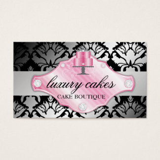 311 Luxury Cakes Damask Shimmer Business Card
