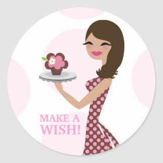 311 Make a Wish Cupcake Cutie Brunette Sticker