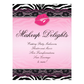 311 Makeup Flyer Hair Salon Zebra Lips Lace Pink