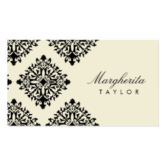 311 Margherita Cream et Blanc Damask Pack Of Standard Business Cards