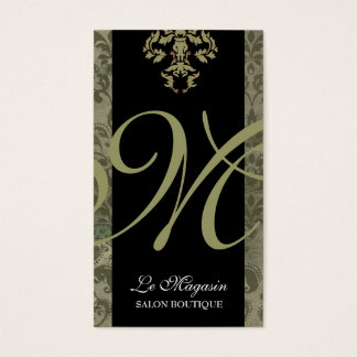 311-Marley Monogram Money Green Business Card