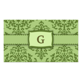 311-Monogram Icing on the Cake - Ivy garnish Pack Of Standard Business Cards