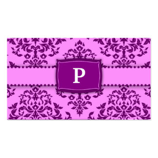 311-Monogram Icing on the Cake - Purple Pack Of Standard Business Cards