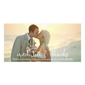 311 Much Love And Thanks Yellow Tint Photo Greeting Card