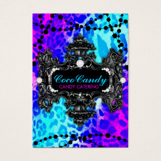 311 Multi Colored Leopard Wonderland Business Card