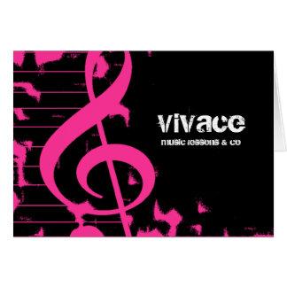311-MUSICAL MAESTRO - GRUNGE HOTT PINK CARD