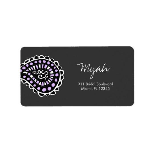 311-Myah Paisley Lavender Address Label