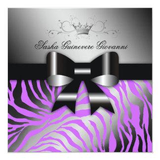 311 Night Zebra Shimmer Electric Purple | Sweet 16 Card