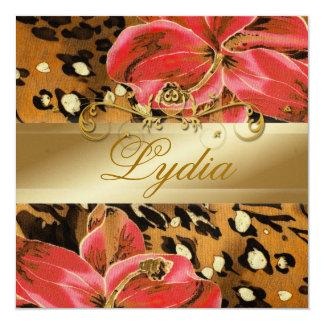 311 Orange Wild Tiger  Lily Golden Metallic Card