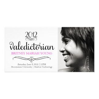 311 Ornate Valedictorian Pink Photo Card