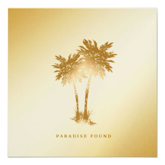 311-Paradise Found   Golden Palms Metallic Paper Card