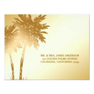 "311 Paradise Found RSVP   Golden Palms Postcard 4.25"" X 5.5"" Invitation Card"