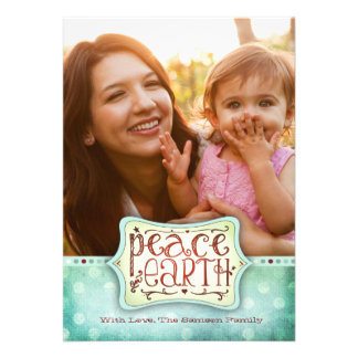 311 Peace on Earth Holiday Card Blue Green