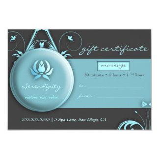 311 Peaceful Spa Delight Gift Certificate 9 Cm X 13 Cm Invitation Card