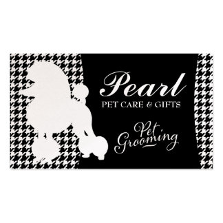 311 Pearl the Poodle Pet Grooming Pack Of Standard Business Cards