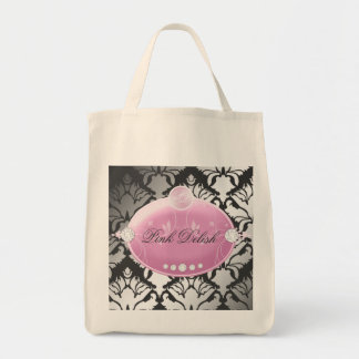311 Pink Delish Charcoal Grocery Tote Bag