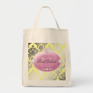 311 Pink Delish Lemon Grocery Tote Bag