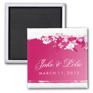 311-PINK LUSH 2 SAVE THE DATE SQUARE MAGNET