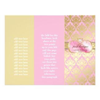 311 Pink Platter Gold Damask 21.5 Cm X 28 Cm Flyer