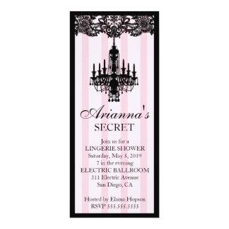 311 Pink Striped Boutique Bridal Invitation