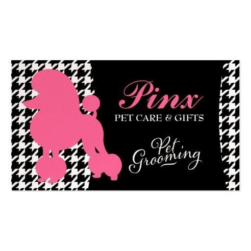 311 Pinx the Poodle Pet Card Business Card