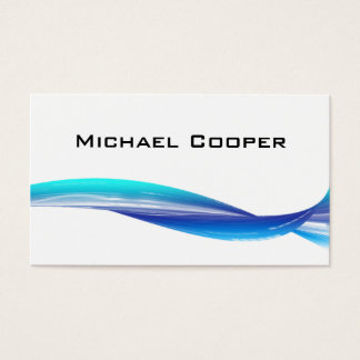 311 Professional Wave Business Card Blue White