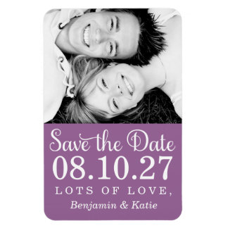 311 Save the Date Photo Magnet Purple