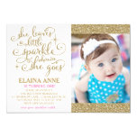 """311 She Leaves a Little Sparkle Wherever She Goes 5"""" X 7"""" Invitation Card"""