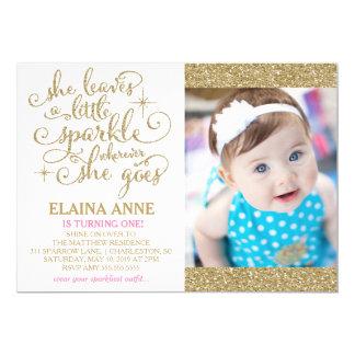311 She Leaves a Little Sparkle Wherever She Goes 13 Cm X 18 Cm Invitation Card