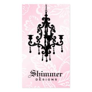 311-Shimmer Chandelier Pink Business Cards