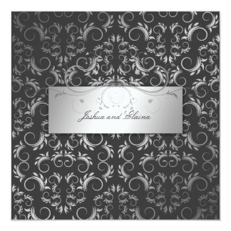 311-Silver Divine Charcoal Gray Card