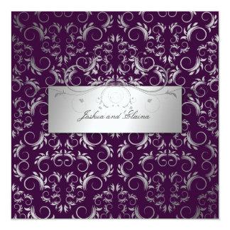311-Silver Divine | Eggplant Card
