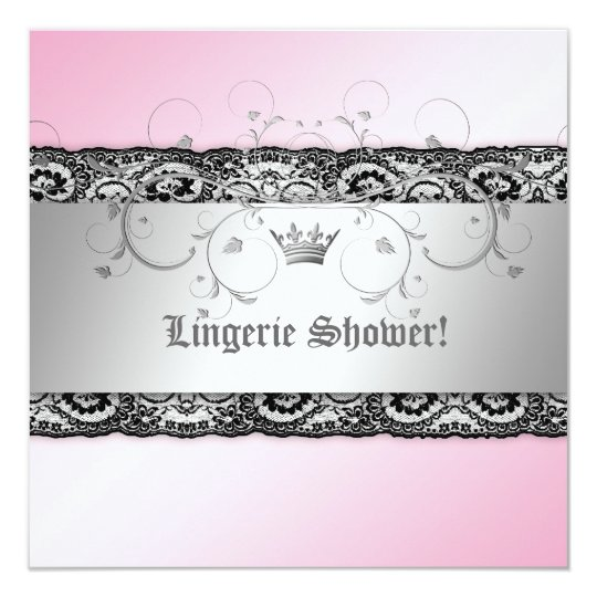 311-Silver Divine Pink Shimmer Lingerie with Lace Card