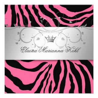 311-Silver Divine Pink Zebra Sweet Sixteen Announcement