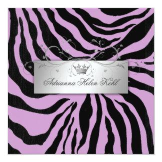 311-Silver Divine Zebra Purple Lingerie Custom Invites