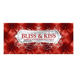311 Snow Bliss Red Tuft Customised Rack Card