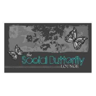 311 SOCIAL BUTTERFLY GRAY BUSINESS CARD TEMPLATE
