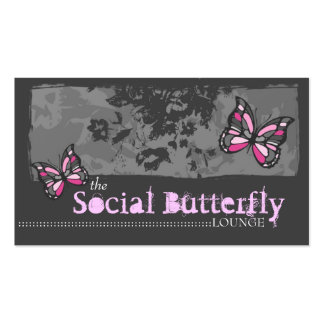 311 SOCIAL BUTTERFLY PINK BUSINESS CARD