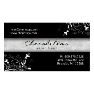 311 Spa Salon Elegant Black & White Business Card