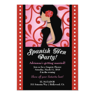 311 Spanish Hen Party 5x7 Paper Invitation Card