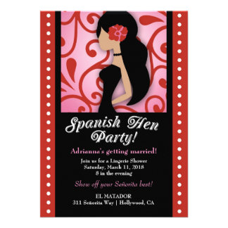 311-Spanish Hen Party Personalised Announcement