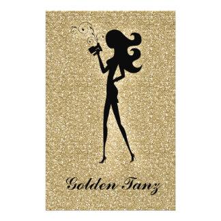 311 Spray Tan Flyer Gold Faux Sparkle