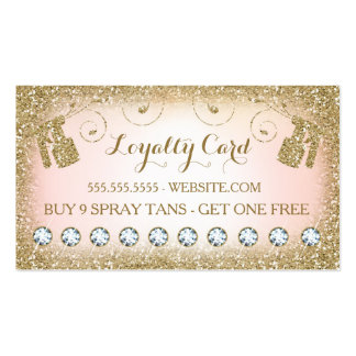 311 Spray Tan Loyalty Card 10 Diamonds Pack Of Standard Business Cards