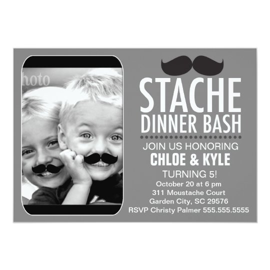 311 Stache Dinner Bash Interactive Moustache Card