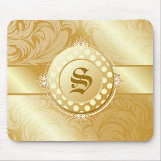 311-Superfine Golden Sugar Monogram Mouse Pad