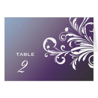 311-Swanky Swirls Table Numbers Hydrangea Card