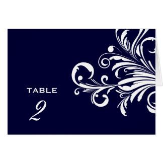 311-Swanky Swirls Table Numbers Navy Blue