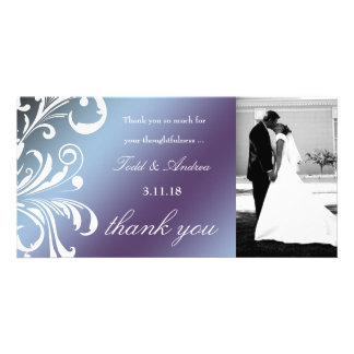 311-Swanky Swirls Thank You Photo Card Hydrangea
