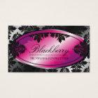 311-Sweet Blackberry Truffle Damask Business Card